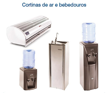 Cortinas de ar e Bebedouros